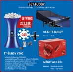 Set JOOLA Buddy 300 + Red + Pelotas Magic ABS 40+